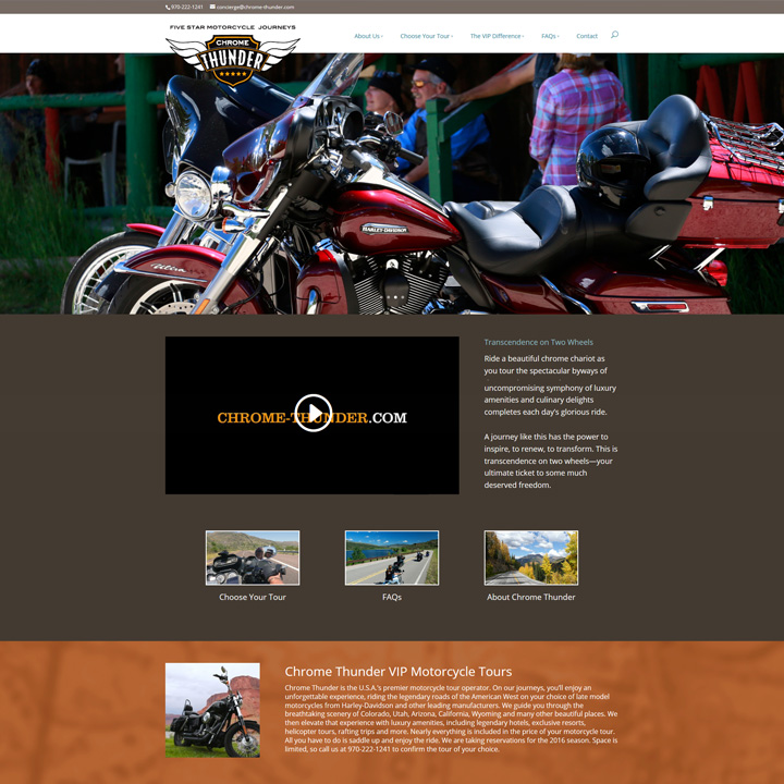 Chrome Thunder Website Design Development