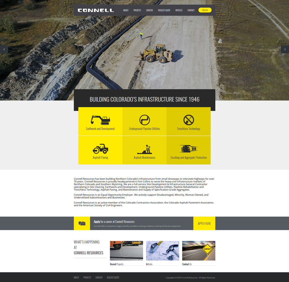 Connell Resources Home Page Web Design Development