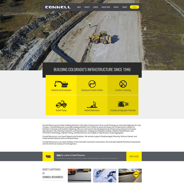 Connell Resources Web Design Development