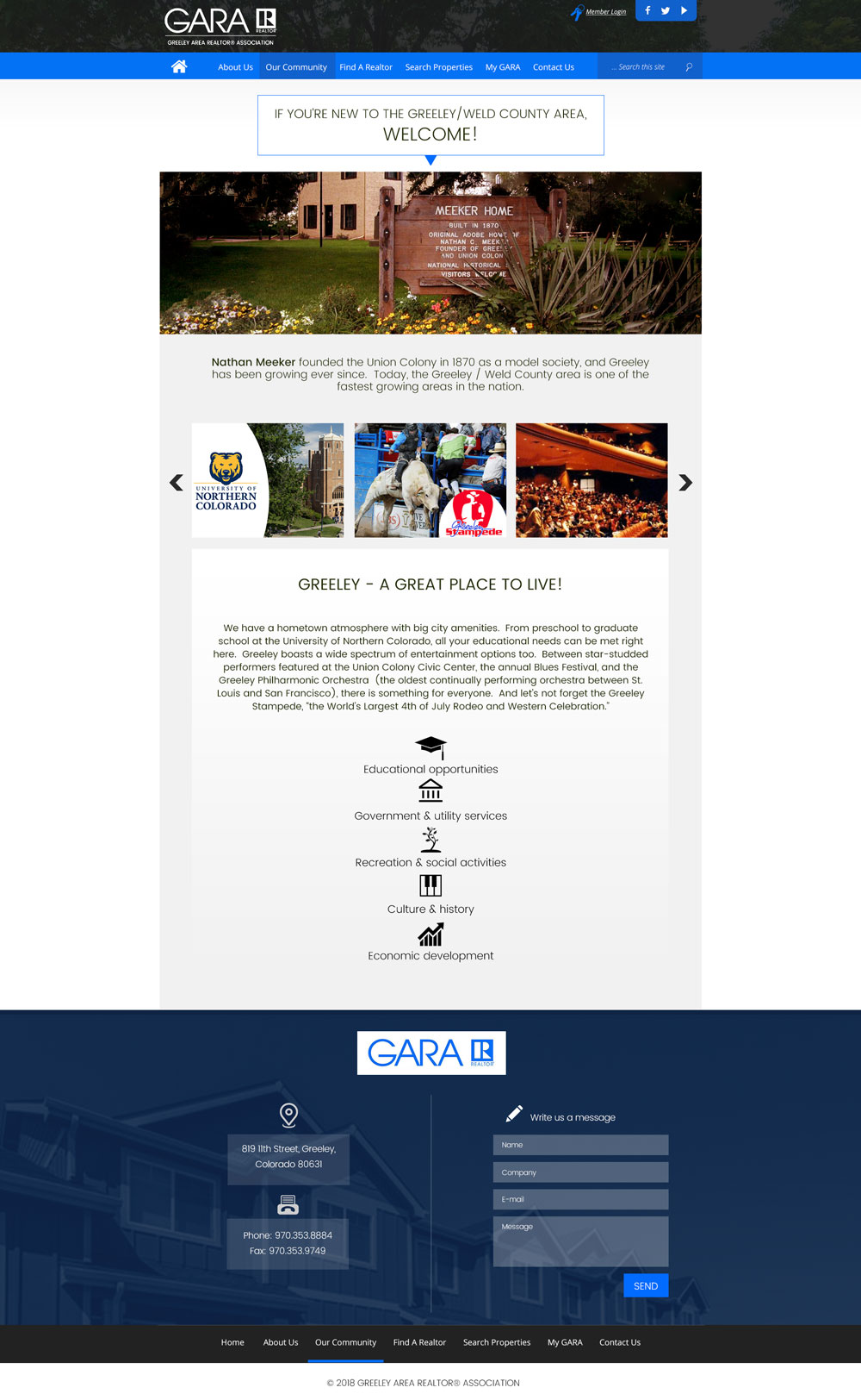 GARA Community Page Design