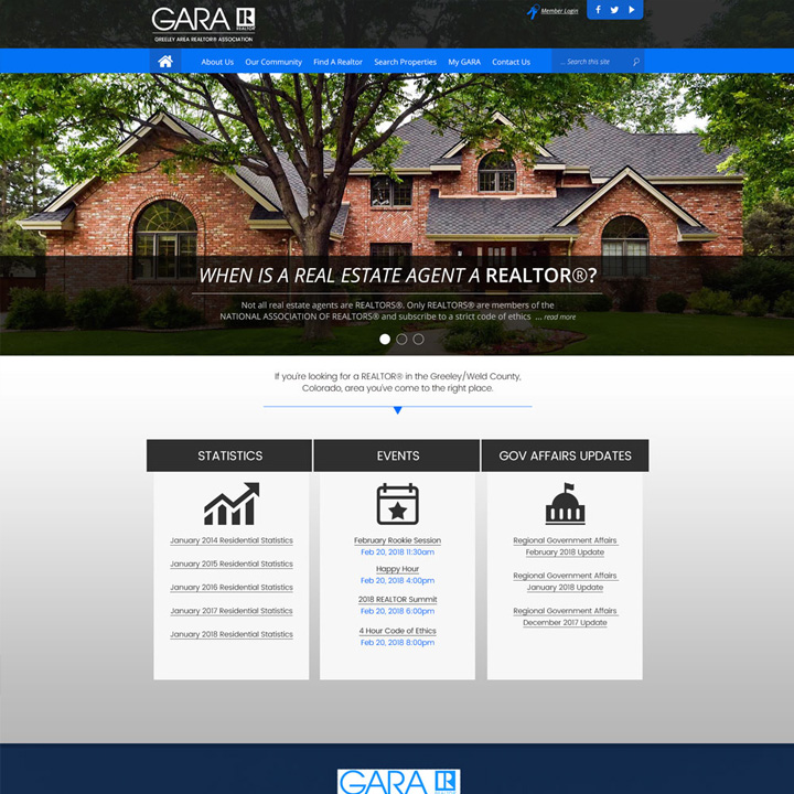 GARA Web Design Development