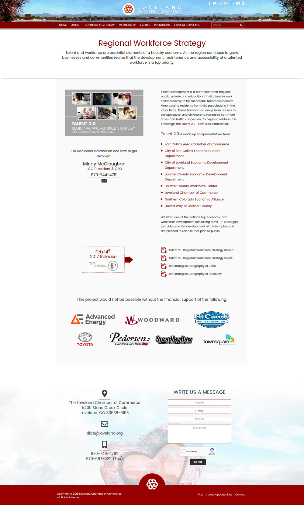Loveland Regional Workforce Strategy Page Design