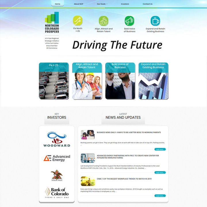 Northern Colorado Prospers Web Design and Development