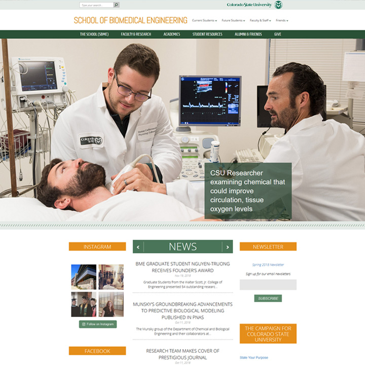 School of Biomedical Engineering Website Design & Development